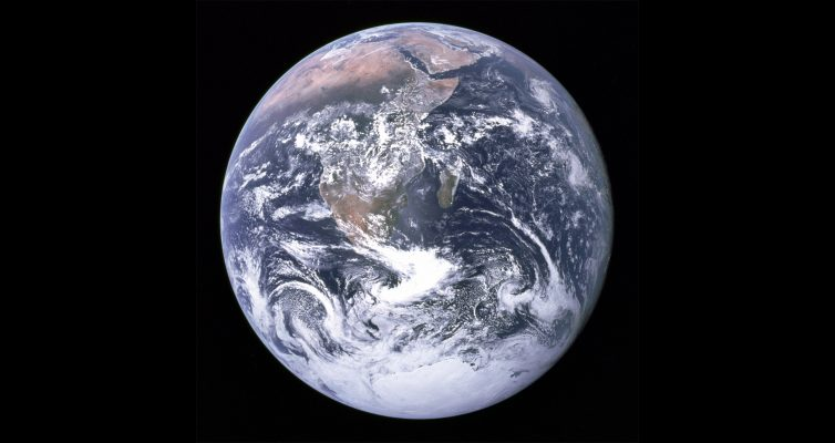 The Big Blue Marble, as seen from space in 1972
