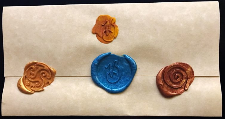 Wax Seal Test Stamps